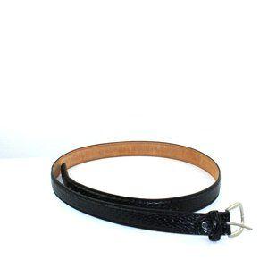 Black Leather Belt Size 42